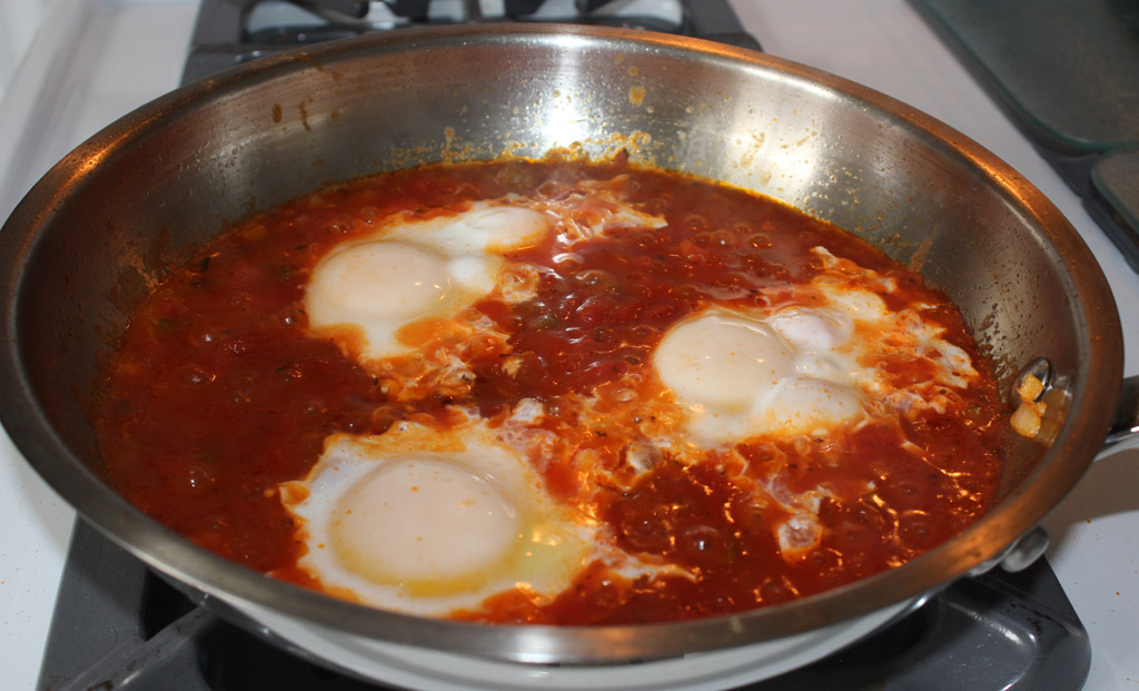 Poaching Ranchero eggs