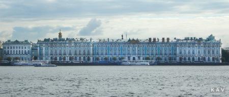 The Hermitage, originally the Winter Palace of the Romanovs, St .Petersburg, Russia