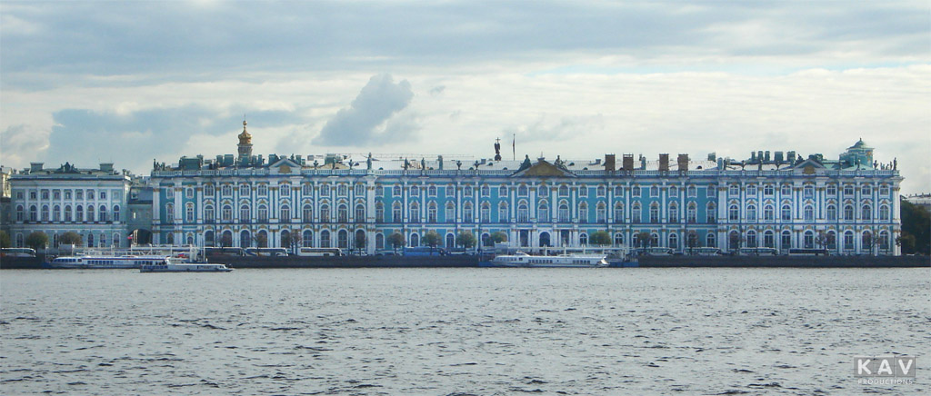 The Hermitage, originally the Winter Palace of the Romanovs, St .Petersburg, Russia