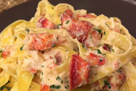 Fettuccine Alfredo with Lobster