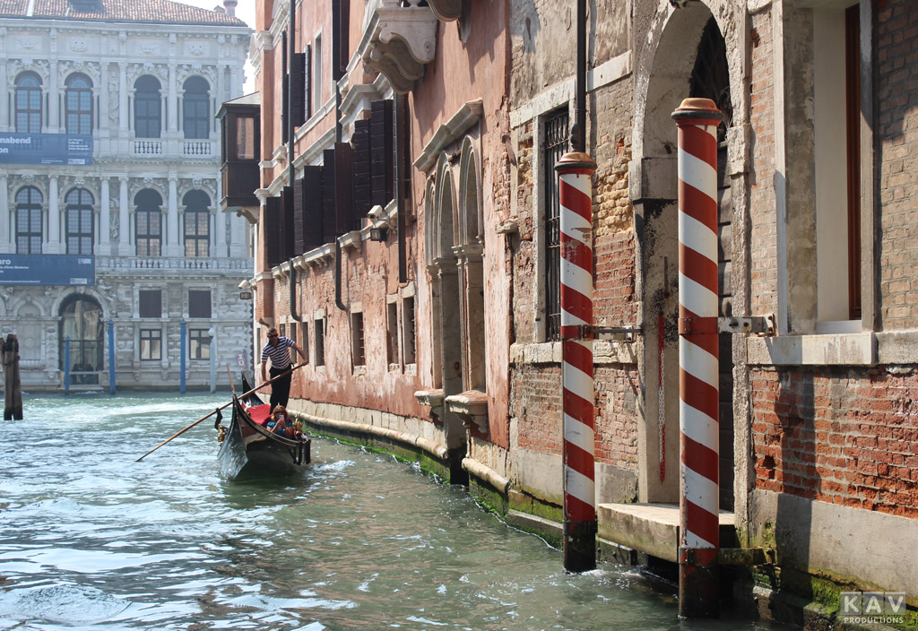 Venice Canal and Gondolier