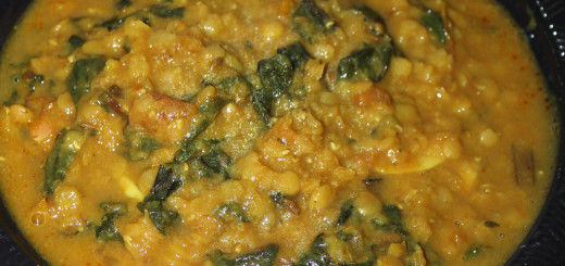 Dal Palak - Indian Lentils with Spinach in a Slow Cooker