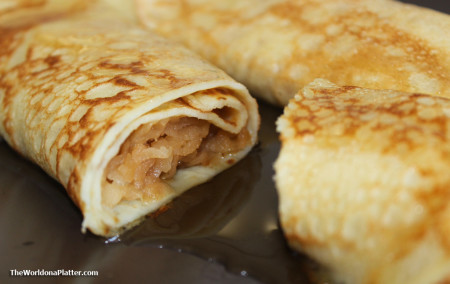 crepes with apple and pear