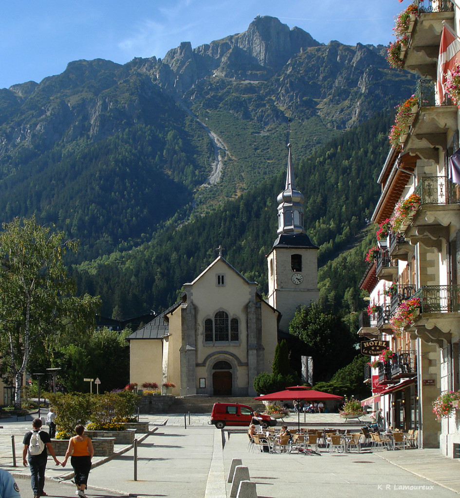 Chamonix in the French Alps