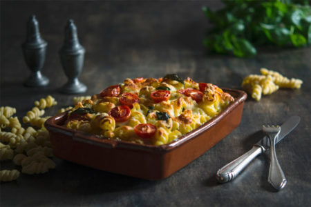 Baked Macaroni Tomato and Cheese
