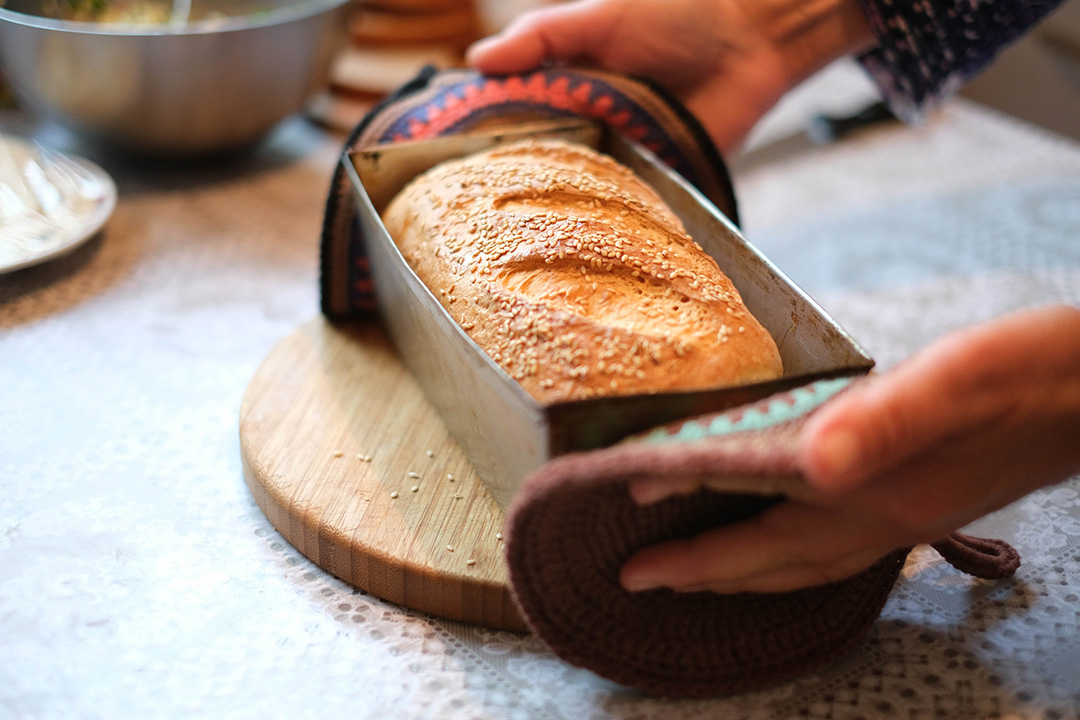 bread in pan