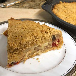 french apple pie slice