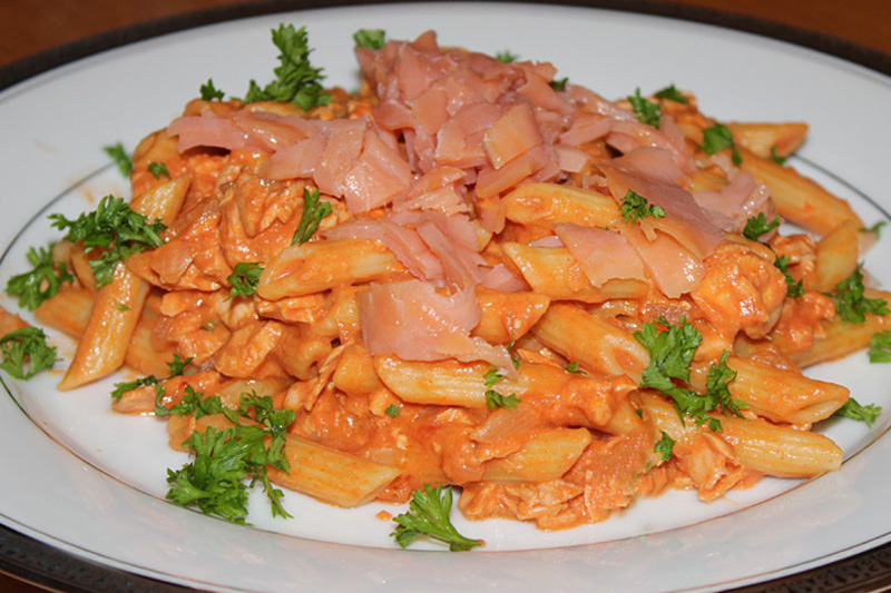 Salmon & Vodka Penne