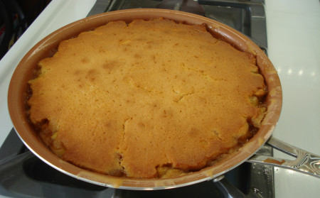 out of the oven upside down cake