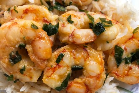 French-Thai Fusion Garlic Shrimp