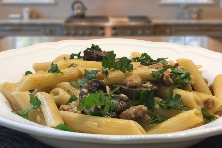 Penne with Sausage & Mushrooms